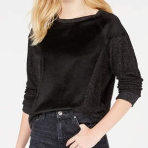 Hippie Rose Juniors' Velvet Raglan Sweatshirt